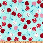 Kaufman Minky Cuddle Merry Cherry Tiffany/Red