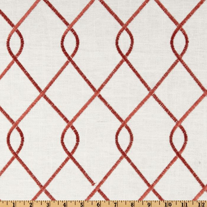 Suburban Home Embroidered Rico Rosewood