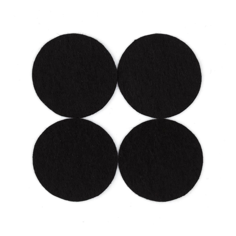 Craft Felt Circle Pack 1 5/8&quot; Black