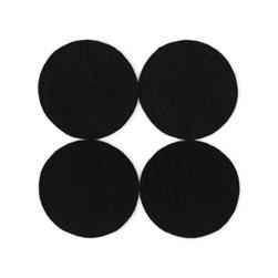 "Craft Felt Circle Pack 1 5/8"" Black"