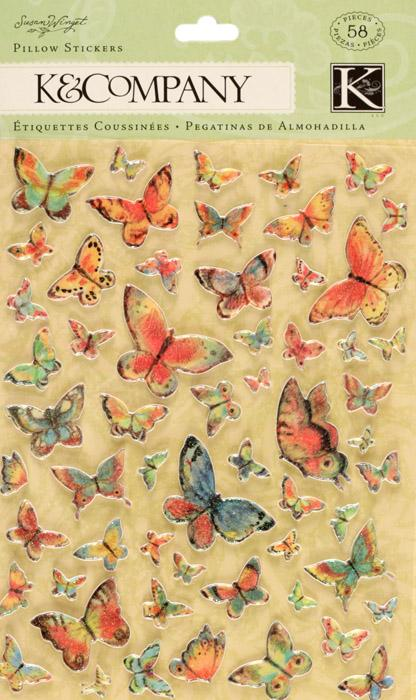 Susan Winget Nature Butterfly Pillow Stickers 58/pcs