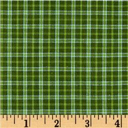 Winter Games Small Woven Yarn Dyed Plaid Green
