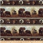 Plains of Africa Repeating Stripe Brown