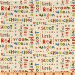 FB-436 Riley Blake Scoot Words Cream