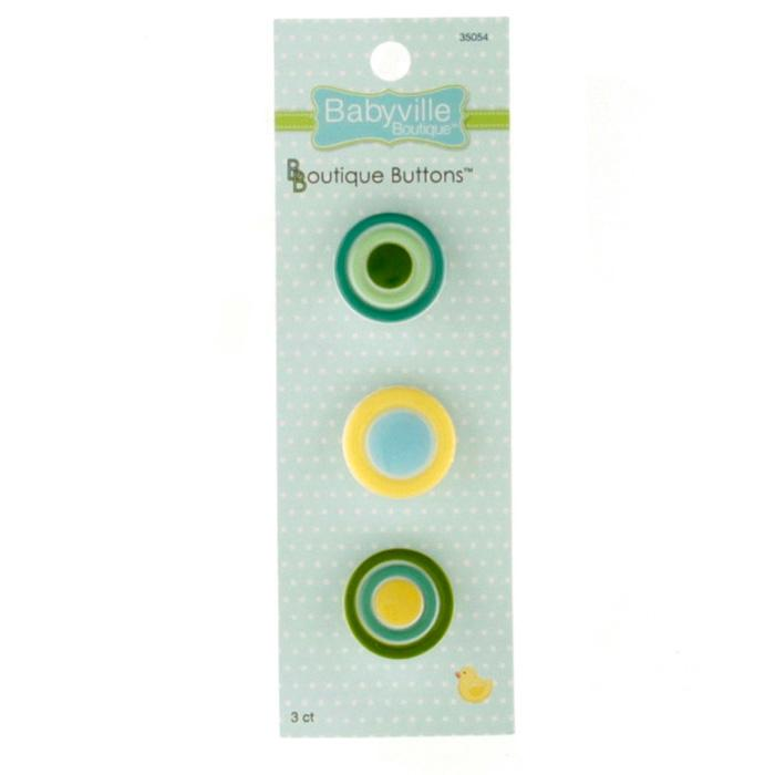 Babyville Boutique Buttons Dots Yellow