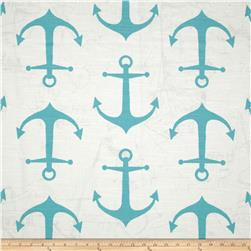 Premier Prints Anchor Slub Blue