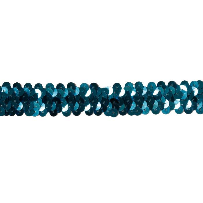 1'' Stretch Sequin Trim Turquoise