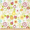 Riley Blake Simply Sweet Large Floral White