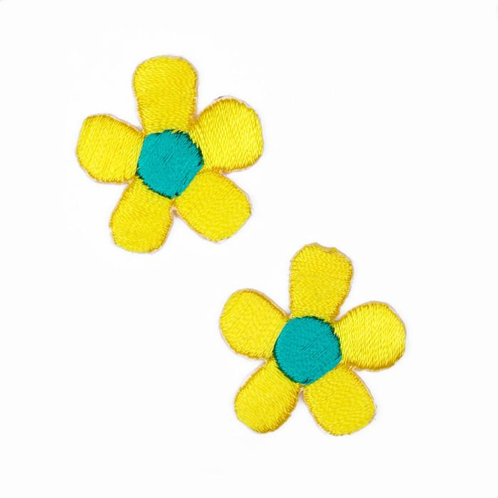 Boutique Applique Flowers Yellow