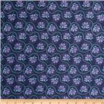 Moda Cuzco Embroidery Indigo