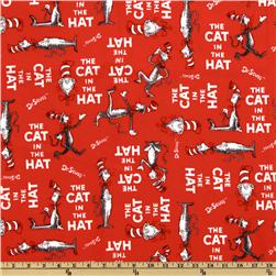 The Cat In The Hat Flannel Book Cover Red