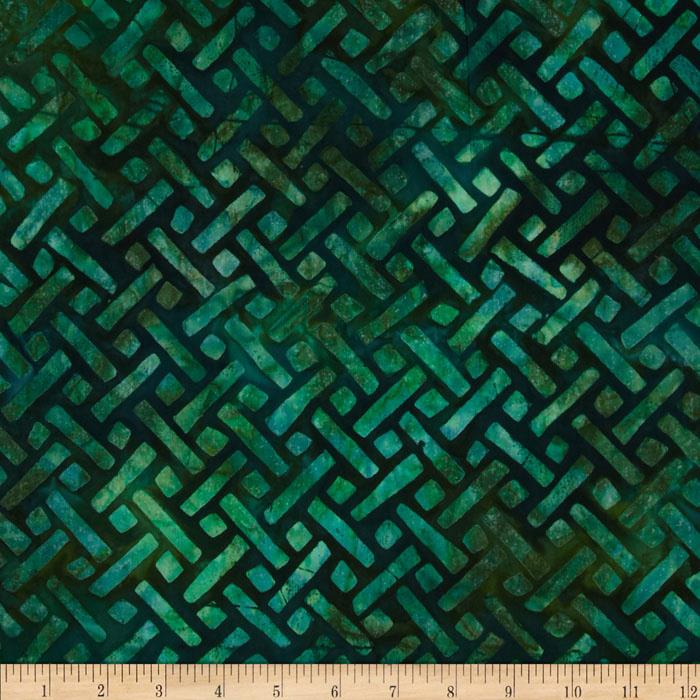 Artisan Batiks: Elementals Geos 4 Crosshatch Green