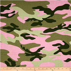 French Terry Knit Camo Pink