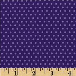 Kaufman Spot On Pindot Purple