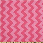FT-935 Riley Blake Chevron Medium Tonal Hot Pink