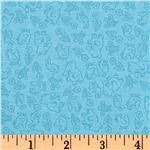 Poky Little Puppy Tonal Blue