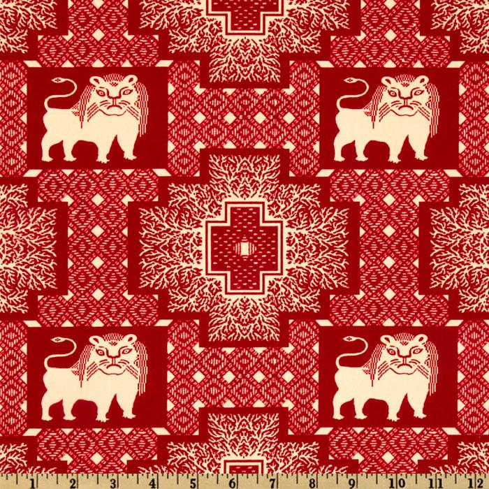Farmer Fancy Lion Blocks Red