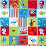 Timeless Treasures Sea Babies Fish & Friends Multi