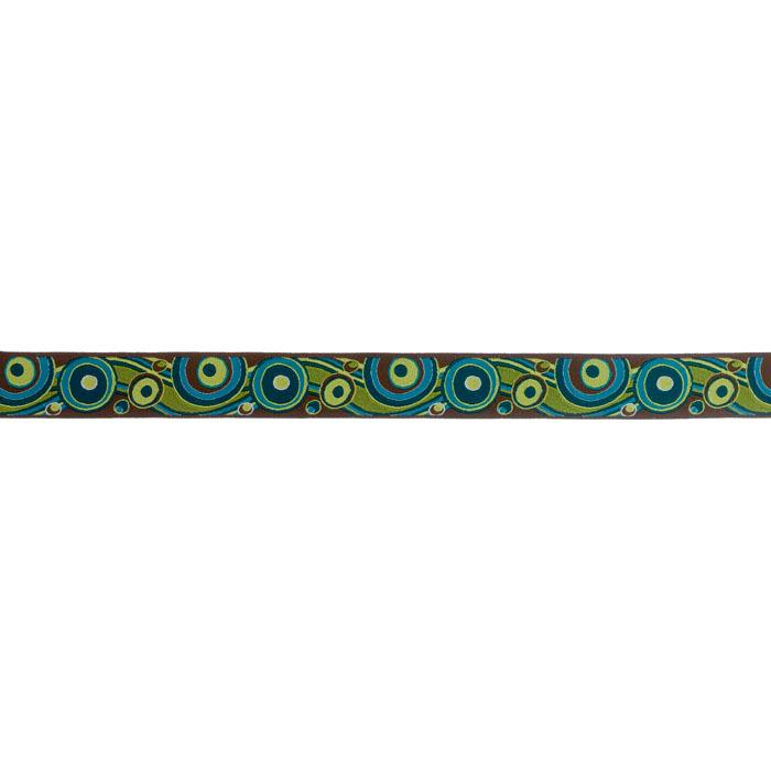 7/8'' RIbbon Circles & Waves Teal/Pistachio