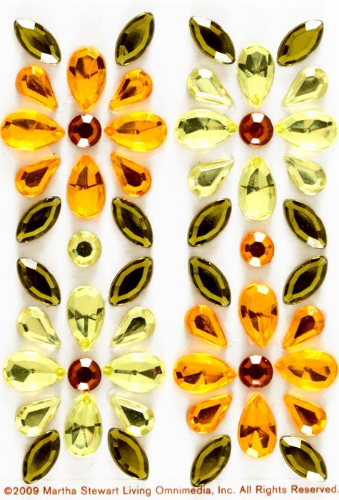 Martha Stewart Crafts Flower Gem Stickers Yellow