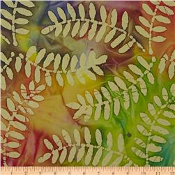 Indian Batik Fern Leaf Yellow/Multi