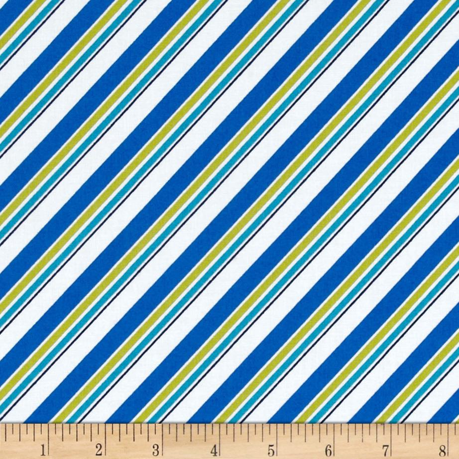 Mediterranean Dream Diagonal Stripe White