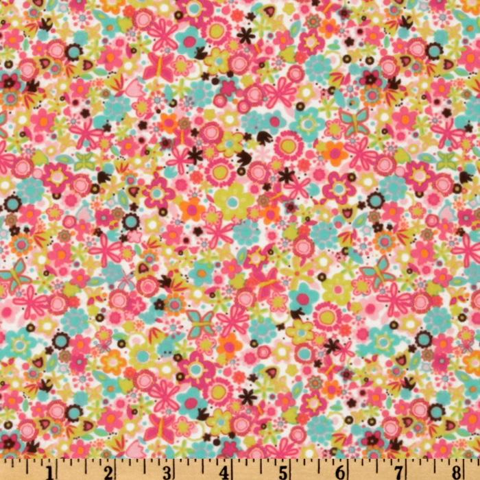 Michael Miller Flannel Tiny Flowers Watermelon
