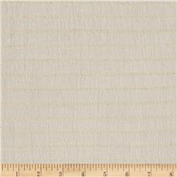 Rayon/Cotton Gauze Stripes Ivory/Beige