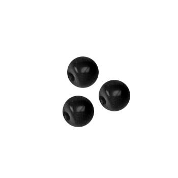 Fashion Button 1/4'' Opaque Balls Black