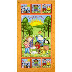 "You Are My Sunshine Kids Panel 24"" Orange"