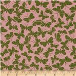 Tossed Butterfly Pink/Green