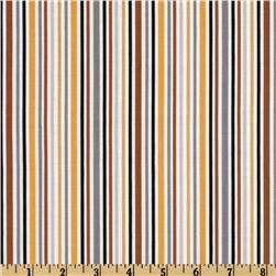 Riley Blake Zoofari Organic Stripe Brown