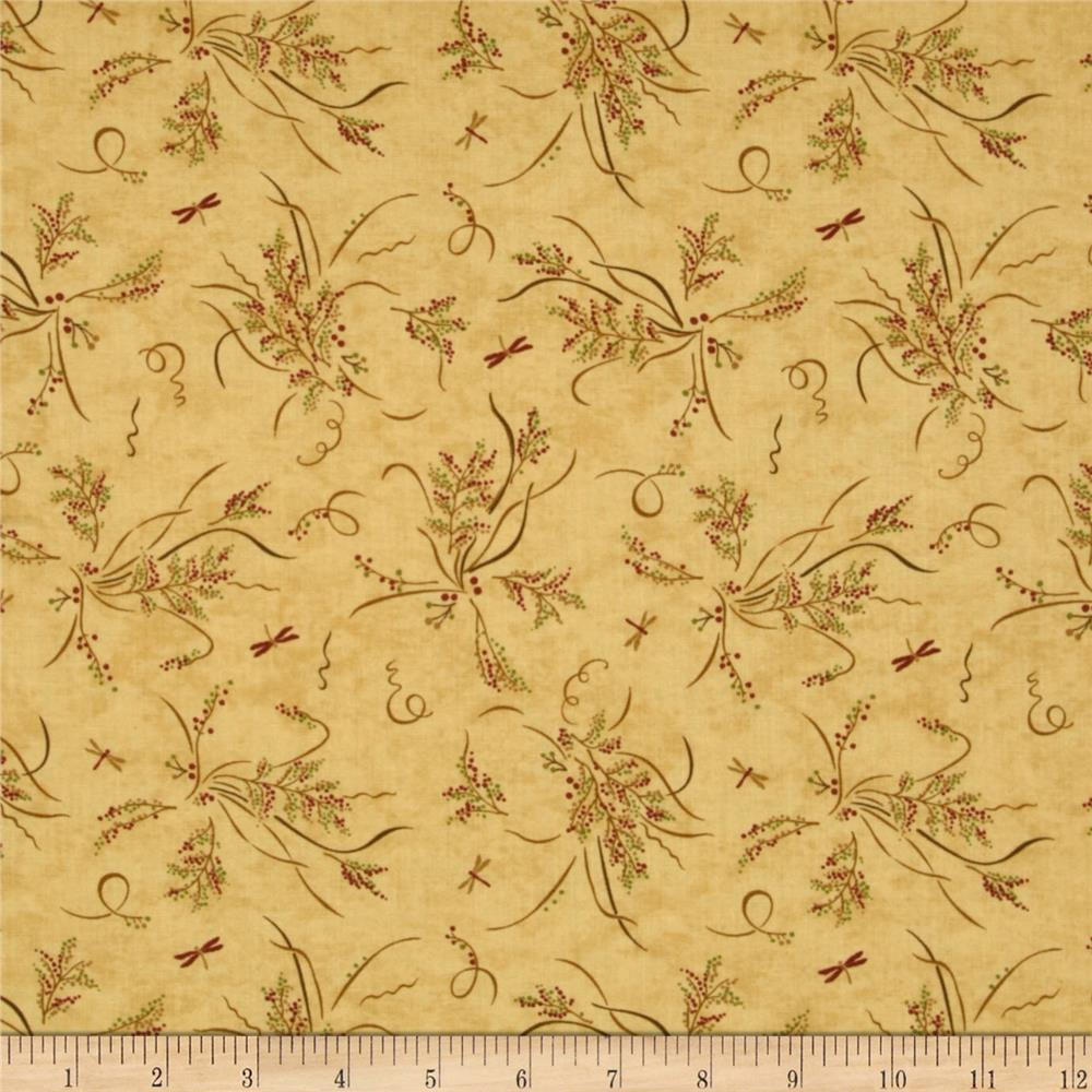 Moda Enchanted Pond Prints Pond Bouquet Dark Cream