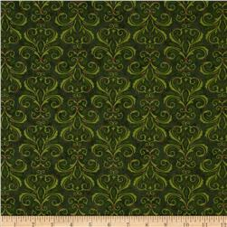 Moda Christmas Countdown Christmas Damask Christmas Green