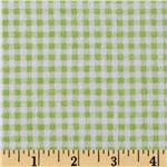 Buttercup Babies Flannel Gingham Green/White