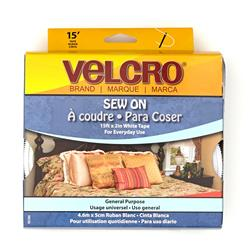 "Velcro Brand Sew-On Tape 2"" White - By The Yard"