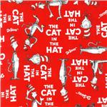 FI-012 The Cat In The Hat Minky Cuddle Cat Walk Red