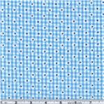 CD-121 Woven 1/8&#39;&#39; Daisy Gingham Turquoise
