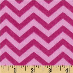 Perched Night Owlies Flannel Chevron Pink