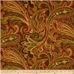 Tempo Indoor/Outdoor Paisley Red