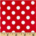 Minky Minnie Dots Red/White