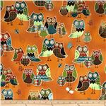 0274320 Owl Wonderful Packed Owls Orange