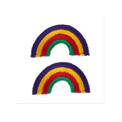 Boutique Applique Rainbow Multi