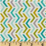 0290428 Michael Miller Flannels Les Amies Ripples Aqua