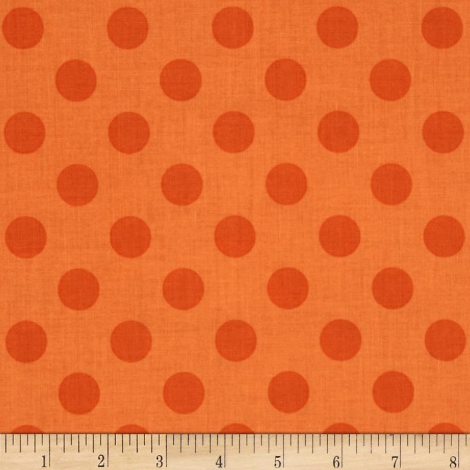 Riley Blake Medium Dots Tone on Tone Orange