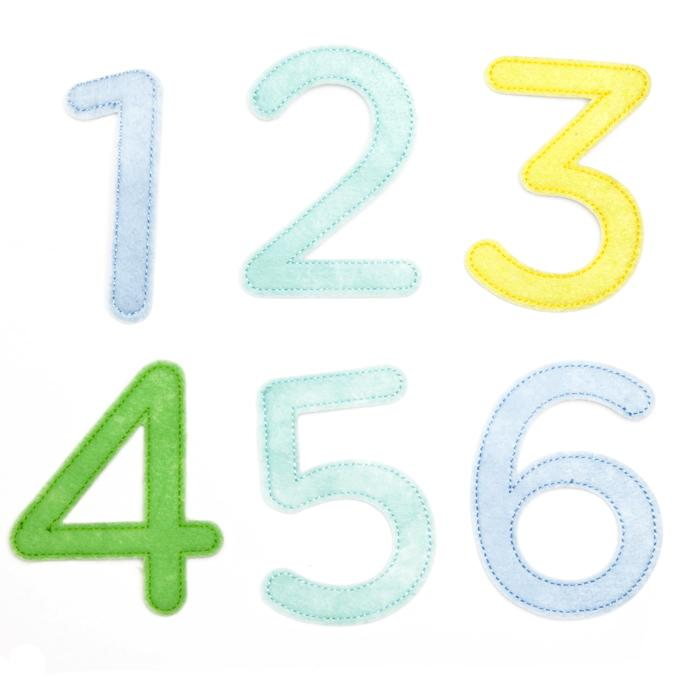 Martha Stewart Crafts Stickers Boy Felt Number Embellishments
