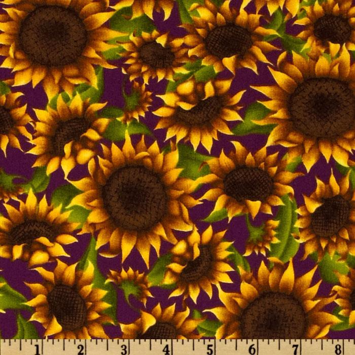 Floral Sunflower Yellow/Brown