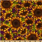 FI-602 Floral Sunflower Yellow/Brown