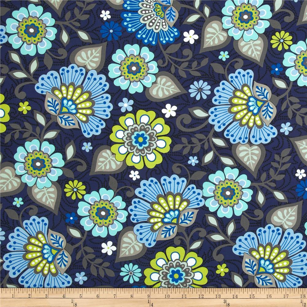 Moonstruck Large Floral Navy