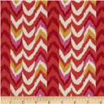 200892 Waverly Living Color Chevron Stripe Twill Fiesta